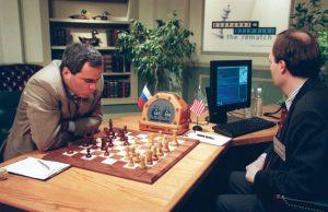 Deep Blue beats Kasparov