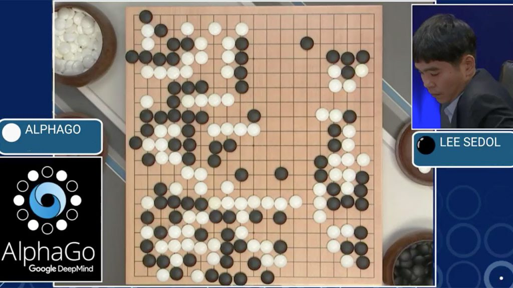 AlphaGo competes against one of the best ranking Go players, Lee Sedol