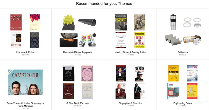 Amazon recommendation engine