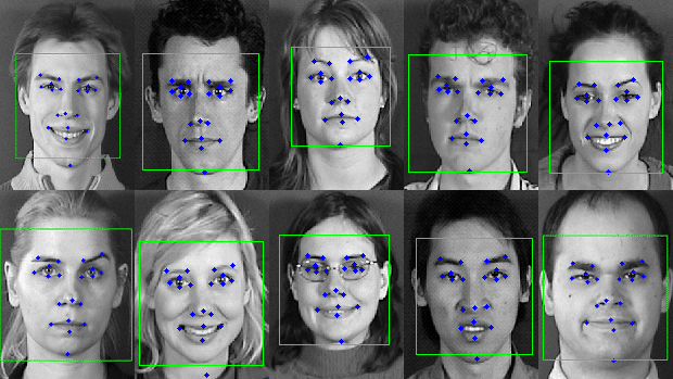 Facial geometry identification example