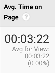 Average session time metric from Google Analytics