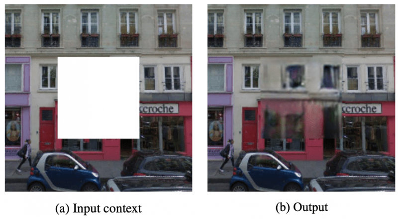 Input and output of self-supervised learning example