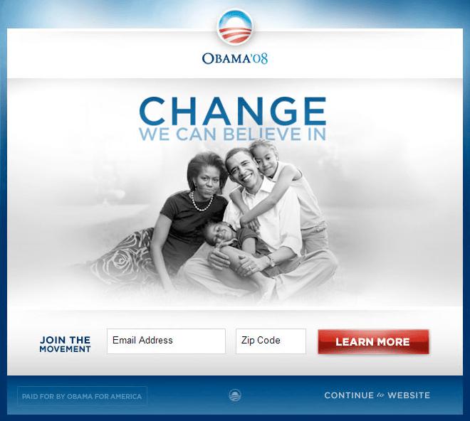 Obama CRO & A/B testing winner